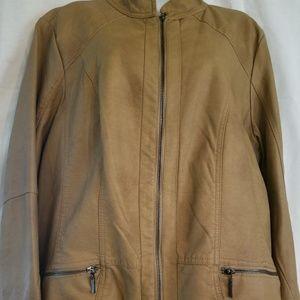 CJ Banks Women's Tan Jacket, size 1X